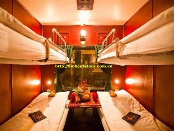 khoang tàu 4 giường nằm mềm