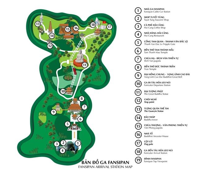 bản đồ hệ thống cáp trao fansipan sapa